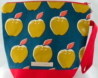 Apple Knitting Project Bag, Medium