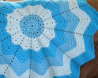 Blue Starburst Baby Blanket