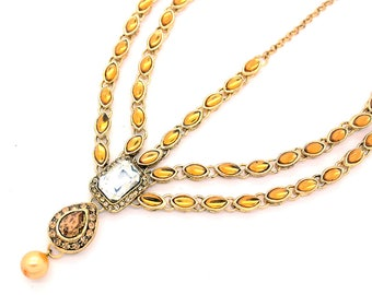 Antique Gold Silver Pendant Kundan Stone Indian Matha Patti Headpiece Head Chain Tikka Bridal