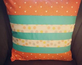 Coral heart cushion