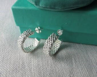 Beautiful earrings. Lovely and elegant silver plated earrings.