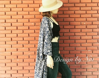 Loose Long Casual Coat Mammy Berd Fabric Lady Wear for Summer