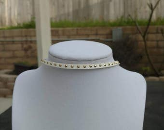This White, Gold Studded Choker