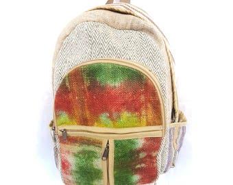 Hemp / Woolen / Jute handmade backpack Shoulder bag Natural Fabric