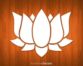 LOTUS DECAL, lotus flower sticker, lotus flower decal, laptop decal flower, yeti decal flower, macbook decal flower, car decal flower, vinyl