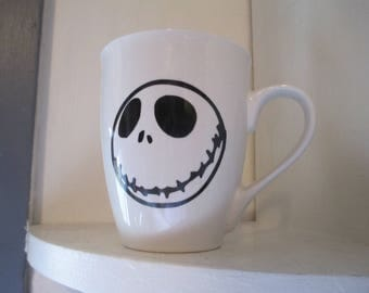 Jack Skellington Nightmare Before Christmas Tim Burton Mug Horror Coffee Cup Halloween Gift