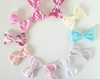 Mini Bows, Baby Clips, Baby Headbands, Baby mini Bows, Hair Bows, Hair Accessories, Newborn Headband, Infant Headbands, Baby Girl Headbands