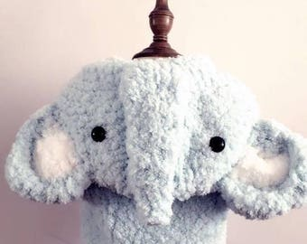 Crochet Elephant Hooded Vest