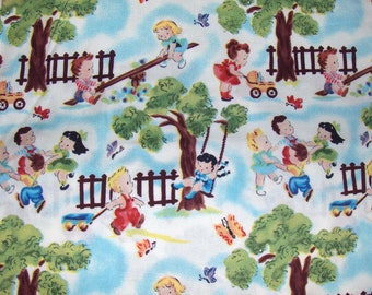Michael Miller Fabric By the Half Yard - Play Pals Retro OOP