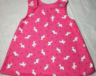 Baby dresses, toddler dresses - unicorns