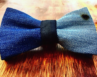 Recycled Jeans Bow tie