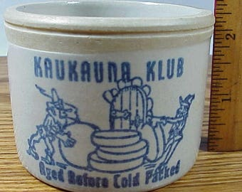 Kaukauna Klub Miniture Cheese Crock *Aged Before Cold Packed* Perfect