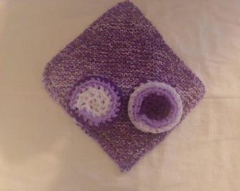 Knit Washcloth & Scrubbie Set