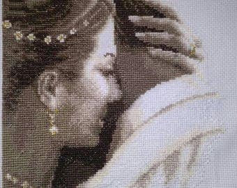 Personalised Completed Cross stitch Wedding Sampler