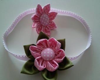 Set of Baby Girl Headband and Elastic hair band, Headband, Hair Strap