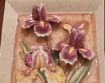 spring flower plate