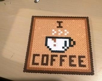 Coaster/Coaster/Saucers/handmade/Handmade/Hama Beads/Pixel Art/8 bit