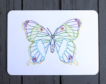 Butterfly Hand Stitched Art
