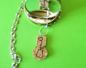 necklace designed cork