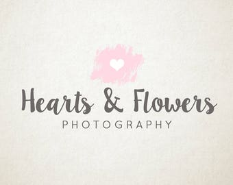 PreMade Logo, Heart, watercolour, Photography or Small Business