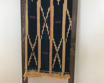 African Indigo Mudcloth Textile/Throw