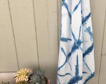 Infant swaddle blanket, hand dyed.