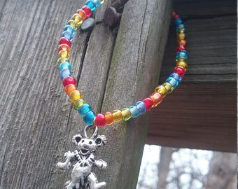 Grateful Dead Bear Stretch Bracelet