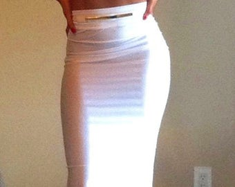 White two piece crop top and skirt set
