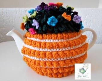SUNBURST  Crochet Tea Cosy/Cozy - Handmade Crochet - Ready to Ship