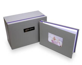 Photo album with multi tiered keepsake & memories box