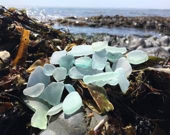 Sea Glass Light Blue and Light Green mixture.