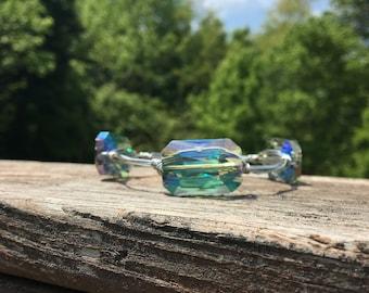 Colorized bead Bangle stack bracelets
