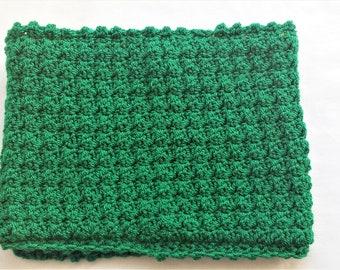 A warm crocheted snood