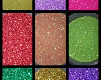 Fine Cosmetic Glitter Lot - 2.25 oz - 9 Colors!