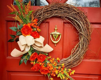 Orange you glad you're home? Wreath