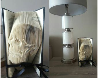 Skull Folded Book Skull Home Decor Skull Art Punk Home Decor