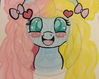 Custom hand painted my little pony portraits of your OC pony