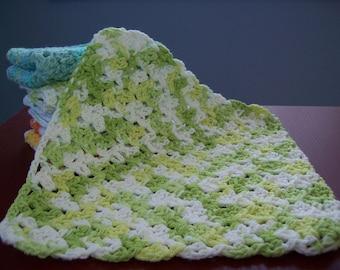 Lacy Dishcloth (green/white)