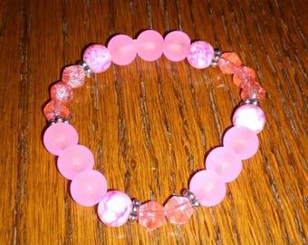 Pink children's bracelet