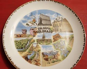 Colorado state souvenir plate