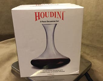 Houdini wine decanter