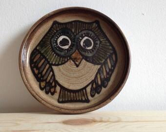 Vintage Retro 1970s Owl Dish