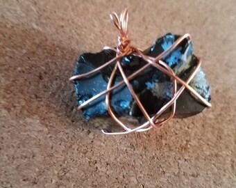 Natural Snowflake Obsidian pendant