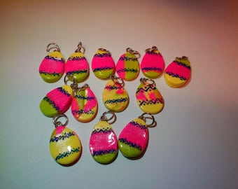 Painted easter egg charms