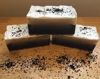 Coffee Sugar Vanilla Latte Bar Soap || Morning wake up shower bar