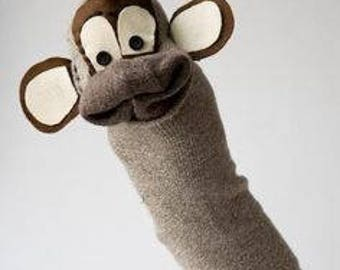 Monkey Sock Puppet