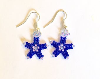 Seastar Earrings in Cobalt