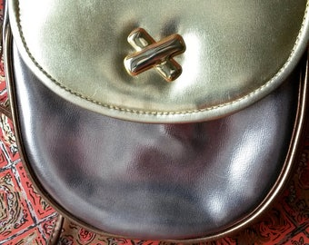 vintage metallic purse