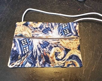 Doctor Who Themed zippered bag purse