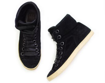Secondhand / Pre-loved Billi Bi high top genuine suede sneakers / Size 38 EU